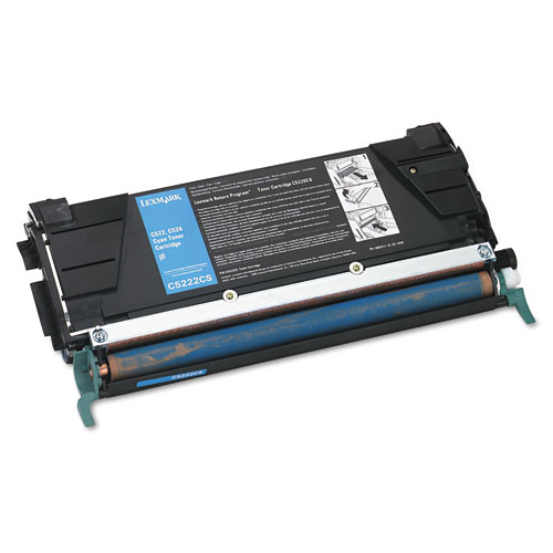 Lexmark C5222CS Cyan Laser Toner Cartridge
