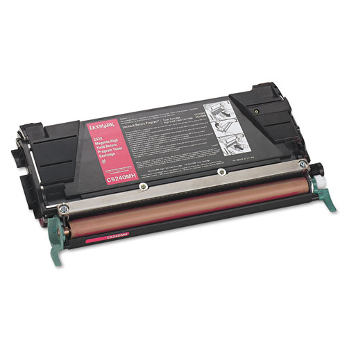Lexmark C5240MH Magenta Toner Cartridge, High Yield